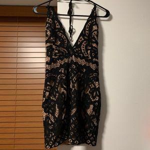 Tobi Black Lace Dreamer Bodycon Homecoming Dress